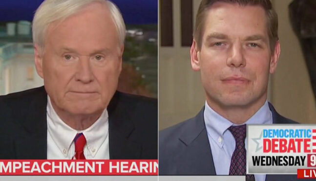 Did Eric Swalwell Let One Rip on Live TV?