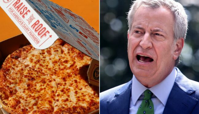 NYC Mayor De Blasio Accuses Domino's Pizza of Price Gouging