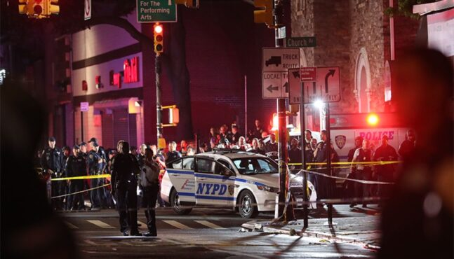 Two NYPD cops shot, one stabbed during 'cowardly' attack in Brooklyn