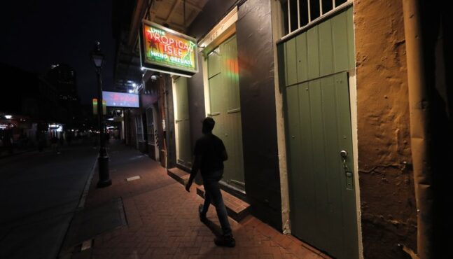 Let the good times … hold. Virus recloses New Orleans bars