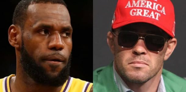 UFC's Colby Covington calls LeBron James 'Spineless'