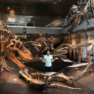 Dustin in Dinosaur Museum