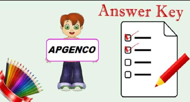 APGENCO JAO Answer Key