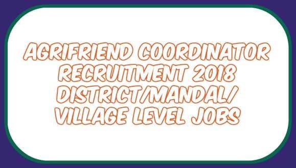 Agrifriend Coordinator Recruitment