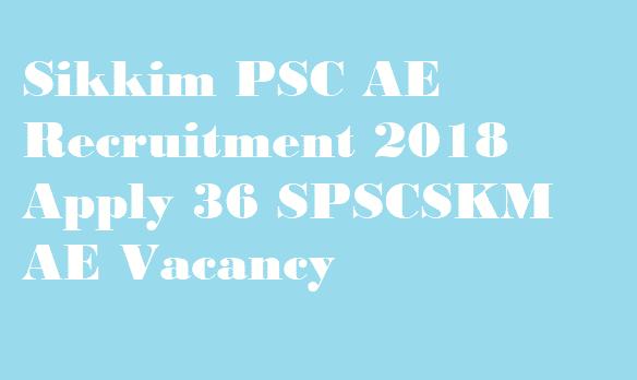 Sikkim PSC AE Recruitment