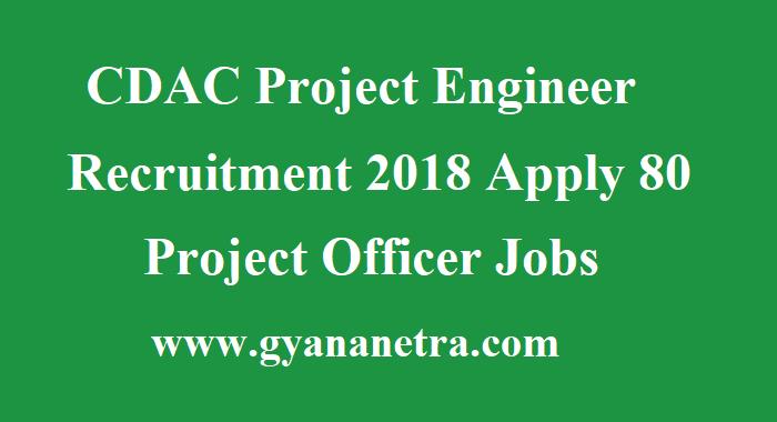 CDAC Project Engineer Recruitment