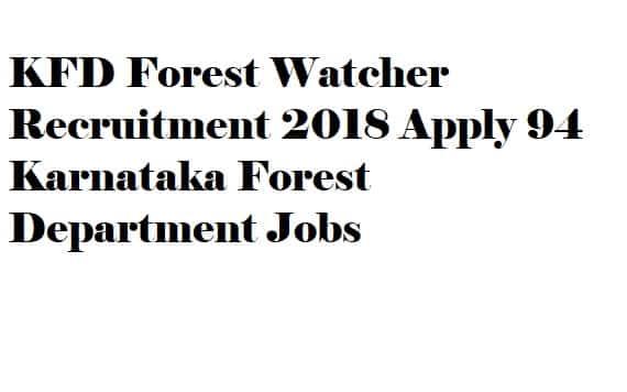 KFD Forest Watcher Recruitment