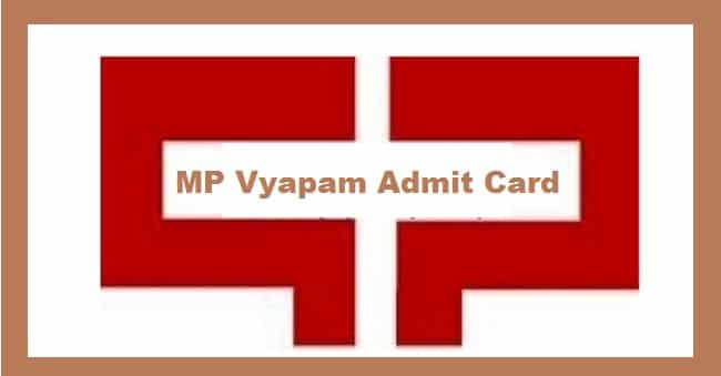 MP Vyapam Field Assistant Admit Card