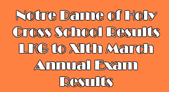 Notre Dame of Holy Cross School Results