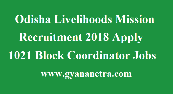 Odisha Livelihoods Mission Recruitment
