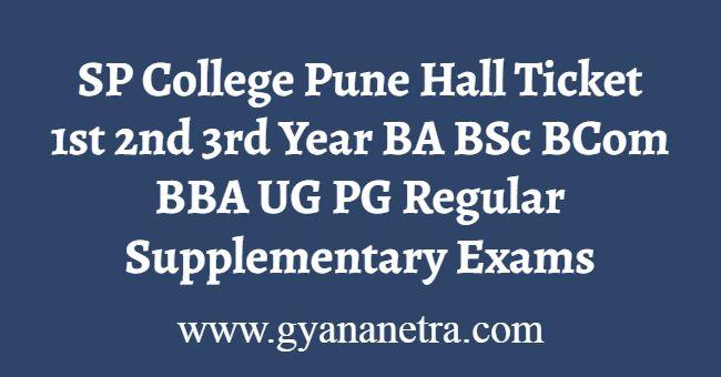 SP College Pune Hall Ticket