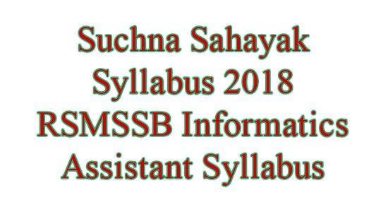 Suchna Sahayak Syllabus 2018