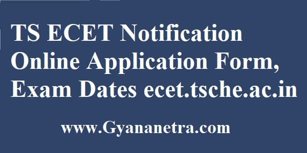 TS ECET Notification Online Application Form
