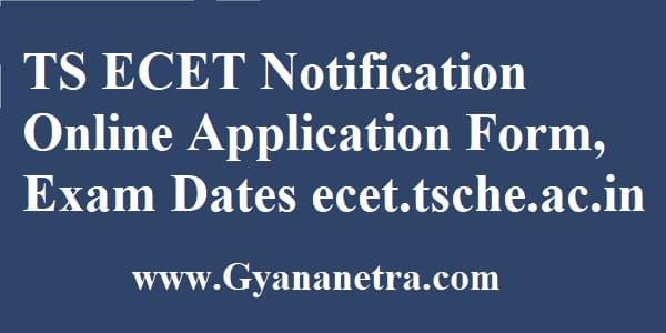 TS ECET Notification Online Application Form