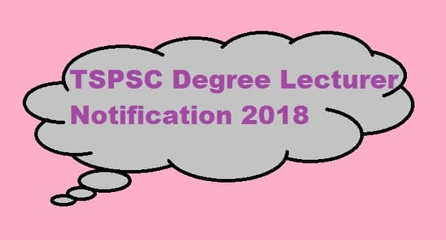 TSPSC Degree Lecturers Notification