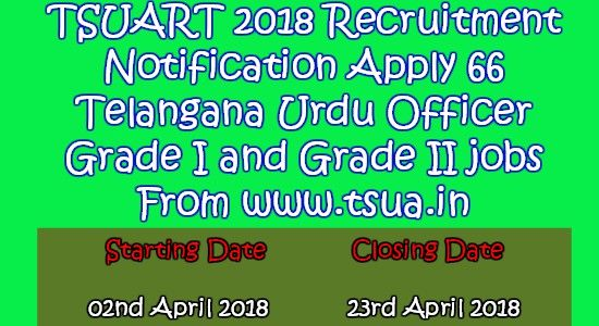 TSUART 2018 Recruitment Notification