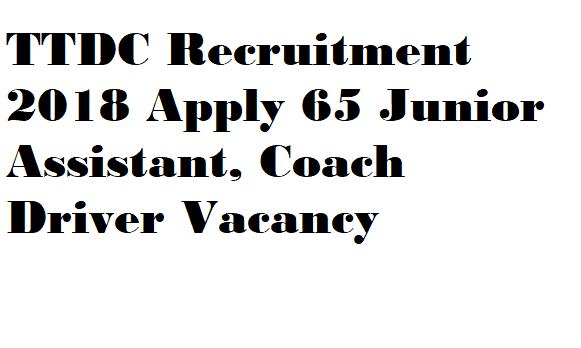 TTDC Recruitment