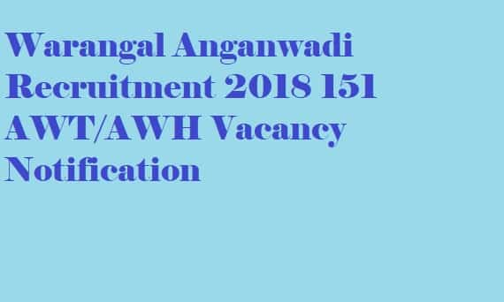 Warangal Anganwadi Recruitment