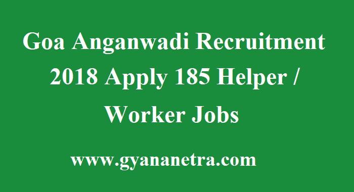 Goa Anganwadi Recruitment