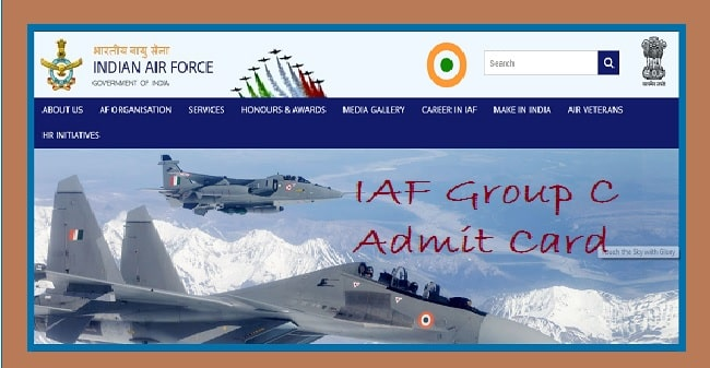 Indian Air Force Group C Admit Card