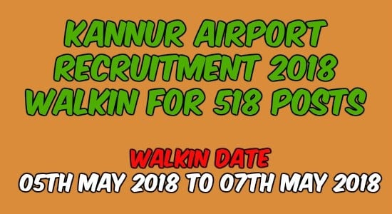 Kannur Airport Recruitment