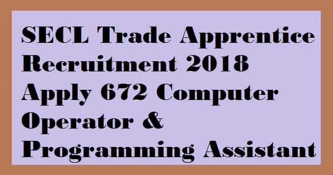 SECL Trade Apprentice Recruitment