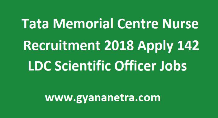 Tata Memorial Centre Nurse Recruitment