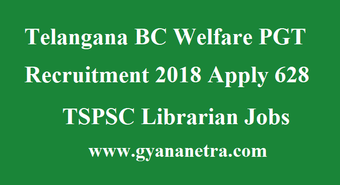 Telangana BC Welfare PGT Recruitment