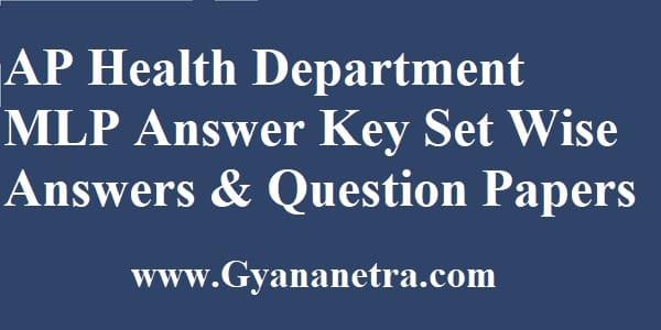 AP Health Dept MLP Answer Key Set Wise Answers