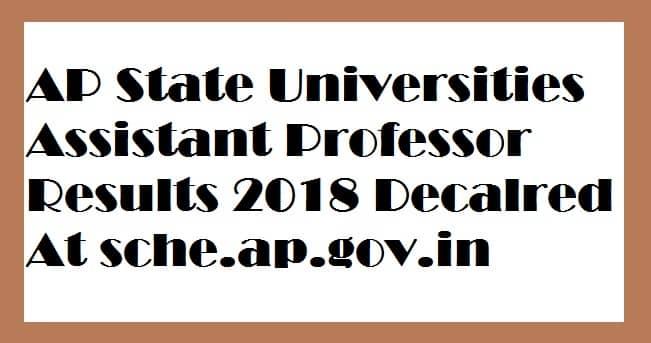 AP Universities Assistant Professor Results
