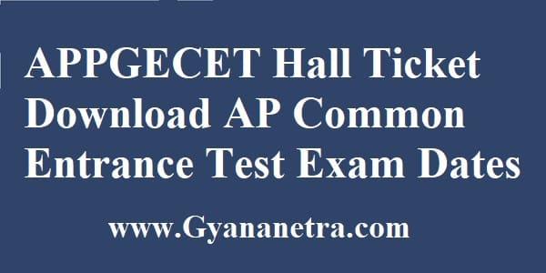 APPGECET Hall Ticket Download Online
