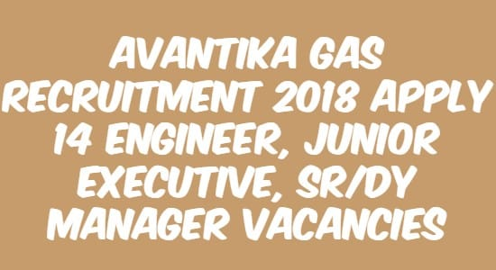 Avantika Gas Recruitment