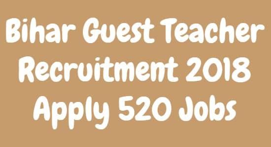 Bihar Guest Teacher Recruitment