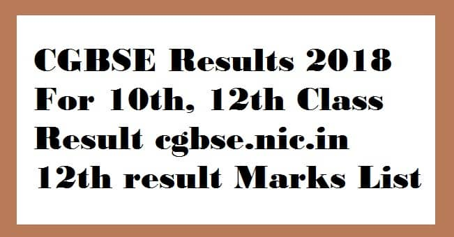 CGBSE Results