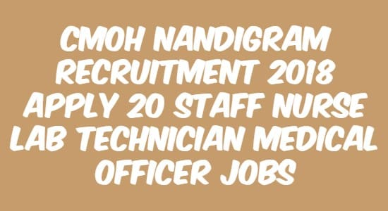 CMOH Nandigram Recruitment