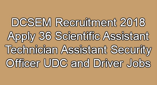 DCSEM Recruitment
