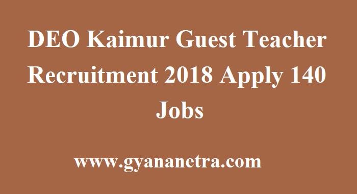 DEO Kaimur Guest Teacher Recruitment