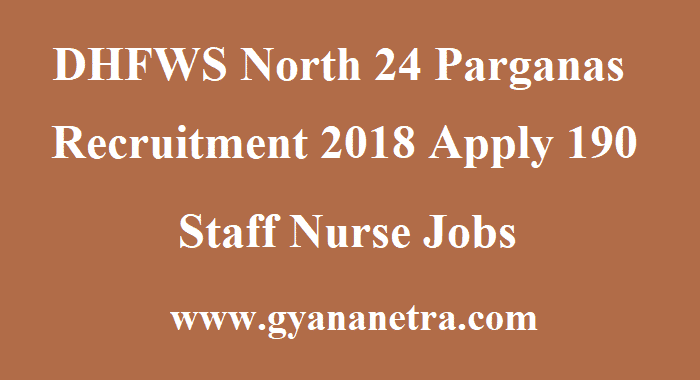 DHFWS North 24 Parganas Recruitment
