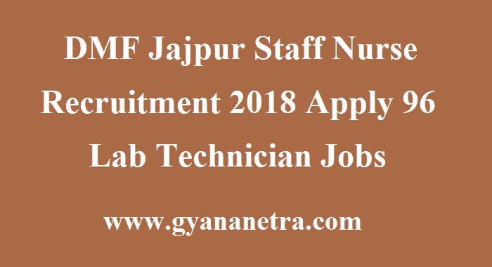 DMF Jajpur Staff Nurse Recruitment