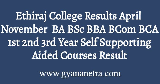 Ethiraj College Results Download
