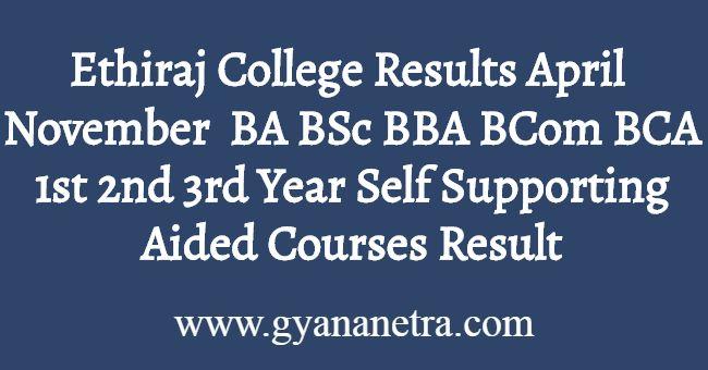 Ethiraj College Results Download