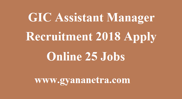 GIC Assistant Manager Recruitment