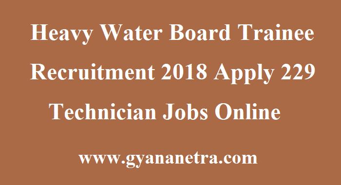 Heavy Water Board Trainee Recruitment