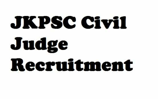 JKPSC Civil Judge Recruitment
