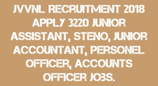JVVNL Recruitment