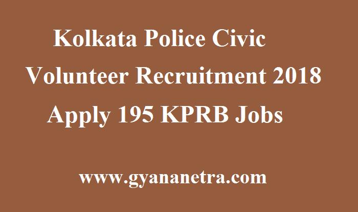 Kolkata Police Civic Volunteer Recruitment