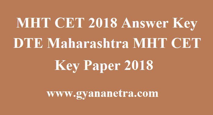 MHT CET 2018 Answer Key