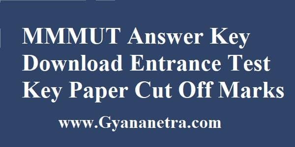 MMMUT Answer Key Download PDF