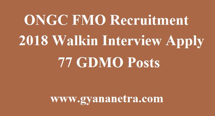 ONGC FMO Recruitment