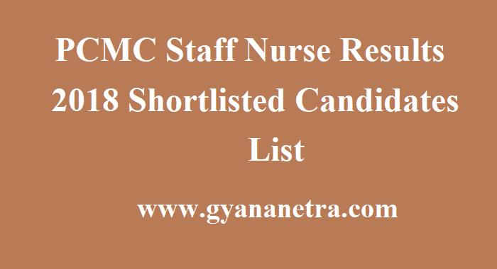 PCMC Staff Nurse Results